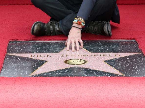 Rick Springfield On The Hollywood Walk Of Fame