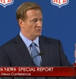 Roger Goodell's News Conference Disrupted By Screaming Man