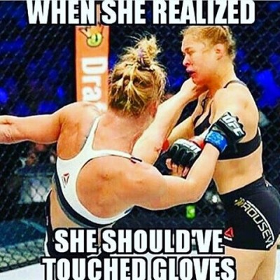 Ronda Rousey meme didnt touch gloves
