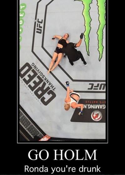 Ronda Rousey meme monster drunk