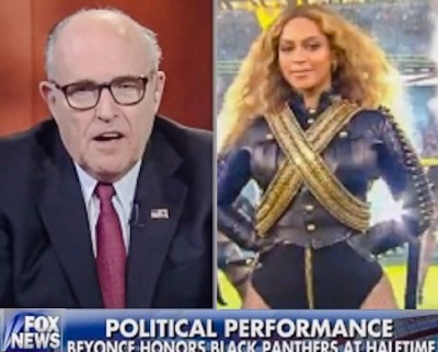 Rudy Giuliani Beyonce anti police 400x322 Rudy Giuliani Blasts Beyonce Anti Police Super Bowl Performance