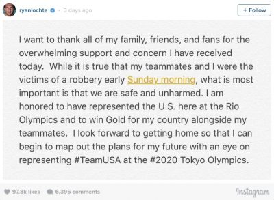 Ryan Lochte instagram