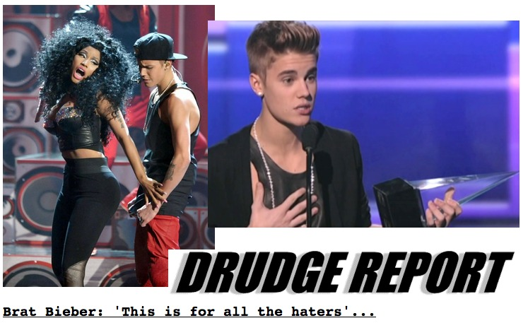 Screen Shot 2012 11 19 at 3.44.38 PM 1 Justin Bieber Makes DrudgeReport For Being a BRAT