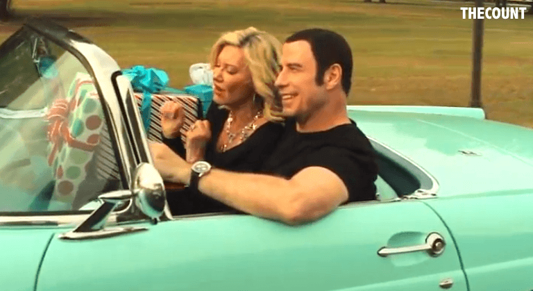 Screen Shot 2012 12 05 at 10.43.37 AM NEW! John Travolta Olivia Newton John MUSIC VIDEO I Think You Might Like It (not me, them)