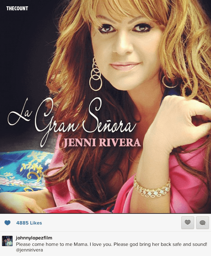 Screen Shot 2012 12 10 at 11.46.42 AM Jenni Rivera 11 Year Olds Heartbreaking Hopeful Instagram To Missing Mom