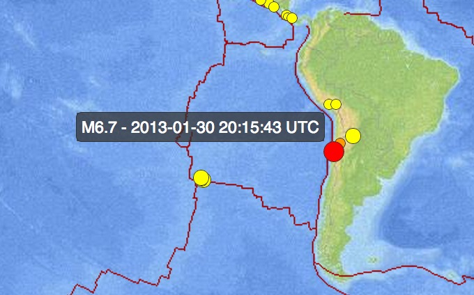 Screen Shot 2013 01 30 at 12.38.01 PM 1 6.7 Earthquake Strikes Chile