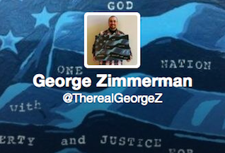 Screen Shot 2013 12 20 at 10.07.23 AM George Zimmerman: Now On Twitter