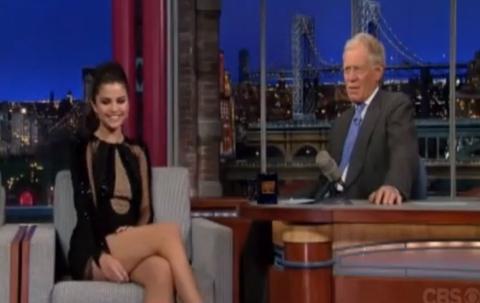 Selena Gomez on David Letterman 18Mar2013