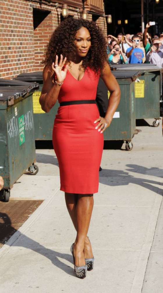 Serena Williams in red dress 01 Serena Williams Serious Weight Loss
