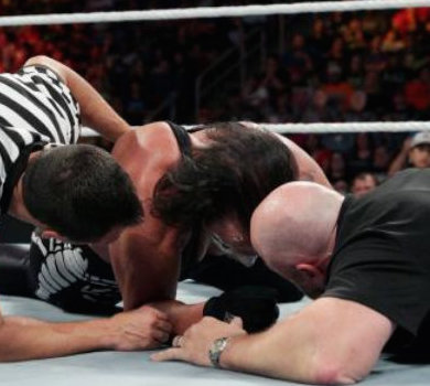Seth Rollins Sting neck injury