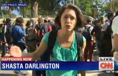 Shasta Darlington tear gas