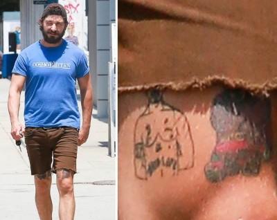 Shia LaBeouf  Tupac Shakur Tattoo
