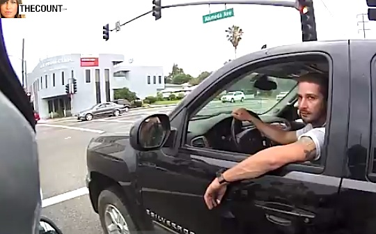 Shia LaBeouf burbank Shia LaBeouf STARES DOWN Random BIKER In Burbank VIDEO