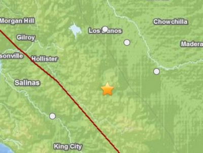 South Dos Palos, California quake