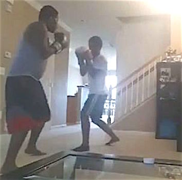 TaDigs Ditches boxing son video
