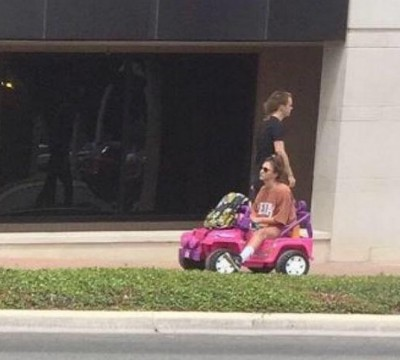 Tara Monroe pink barbie jeep college 400x360 DUI College Girl Hailed As Hero After Switching To Barbie Jeep