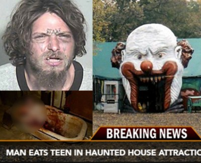 Texas Man eats Teenageer In Haunted House