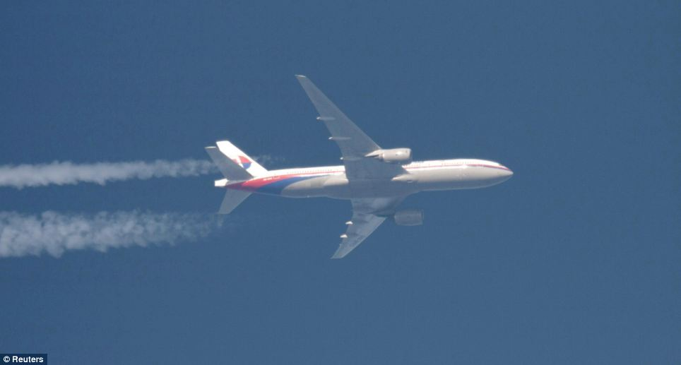 The final picture: The missing jet is pictured here in February this year above Polish airspace.