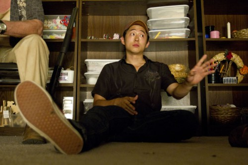 The Walking Dead1750 500x333 Steven Yeun on the floor talking the talk, The Walking Dead June 14, 2011