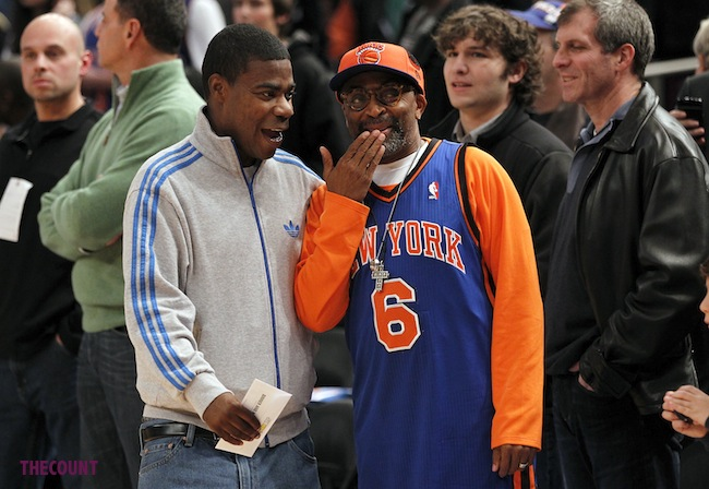 Celebrities watch the Knicks at Madison Square Garden, NYC