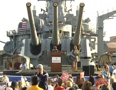 USS Iowa donald trump rally