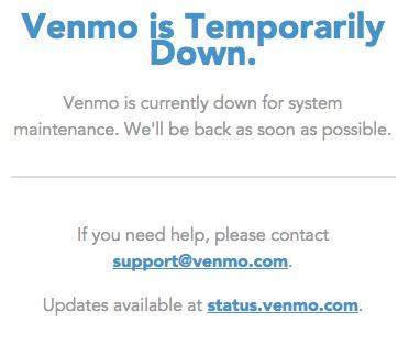 VENMO down