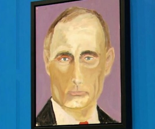 Vladimir putin george-w-bush-new-paintings-story-top