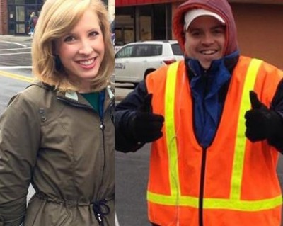 WDBJ7 Alison Parker and Adam Ward 61 400x319 VIDEO: News Report Ends In HORROR Shooting in Reporter Vs Reporter