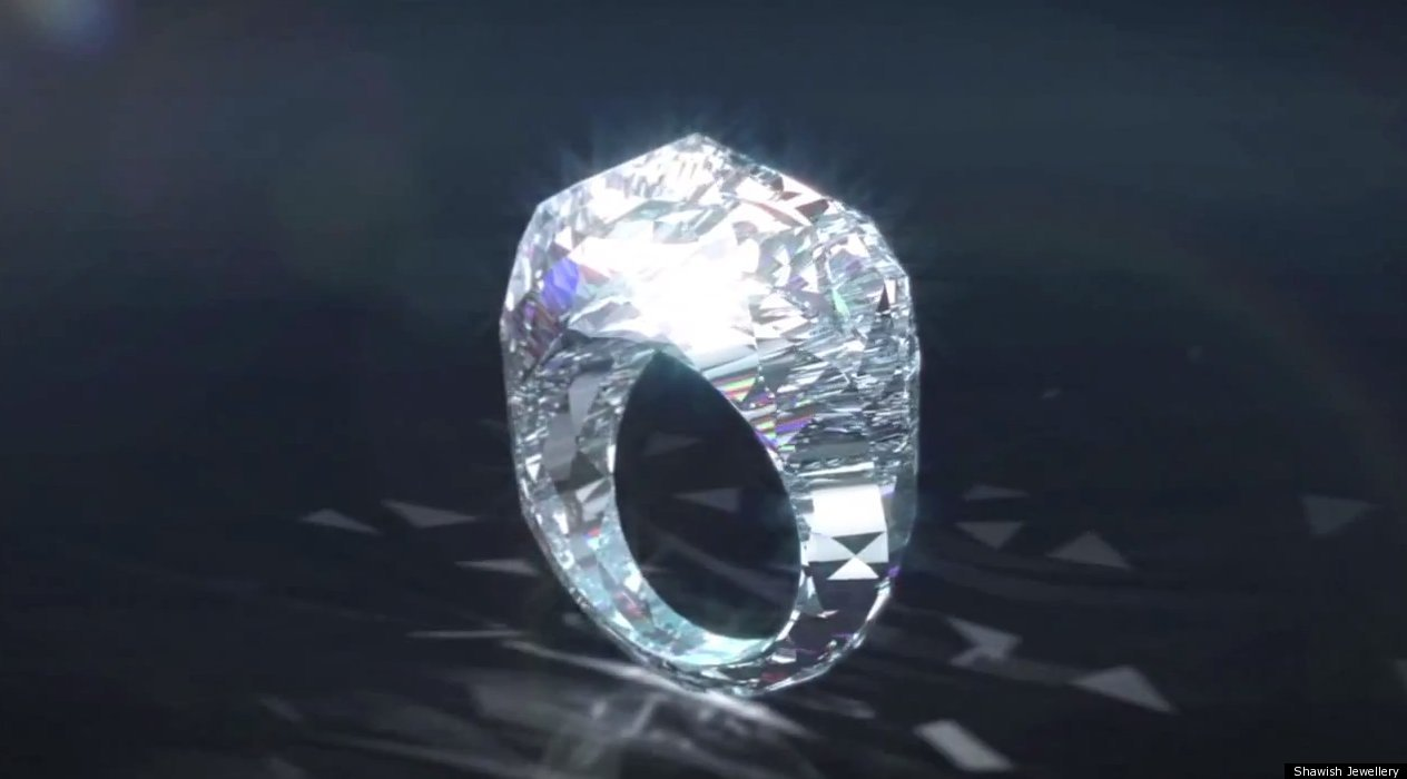WORLDS LARGEST DIAMOND RING