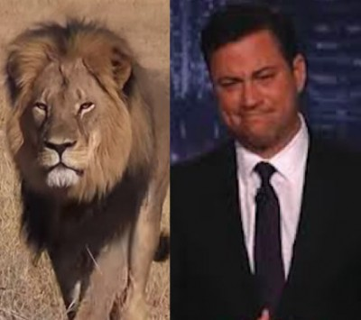 Walter James Palmer DDS cecil lion1 400x355 Jimmy Kimmel Almost Cries During Monolog About CECIL THE LION