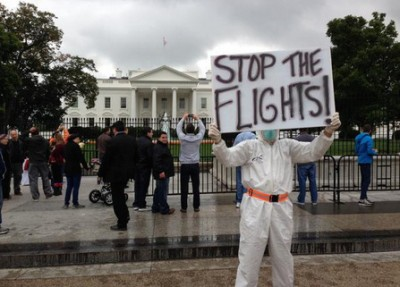White House Protest Happening NOW Over Ebola Travel Ban