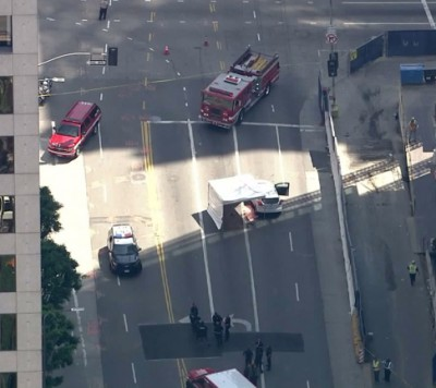 Wilshire Grand Tower accident scene