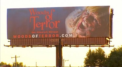 Woods of Terror billboards bring controversy