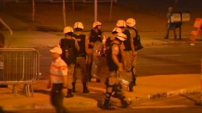 World Cup Stadium in Brazil riot police