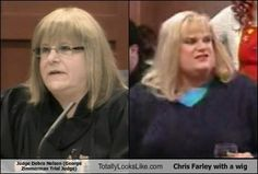 Zimmerman Judge Chris Farley Lookalike