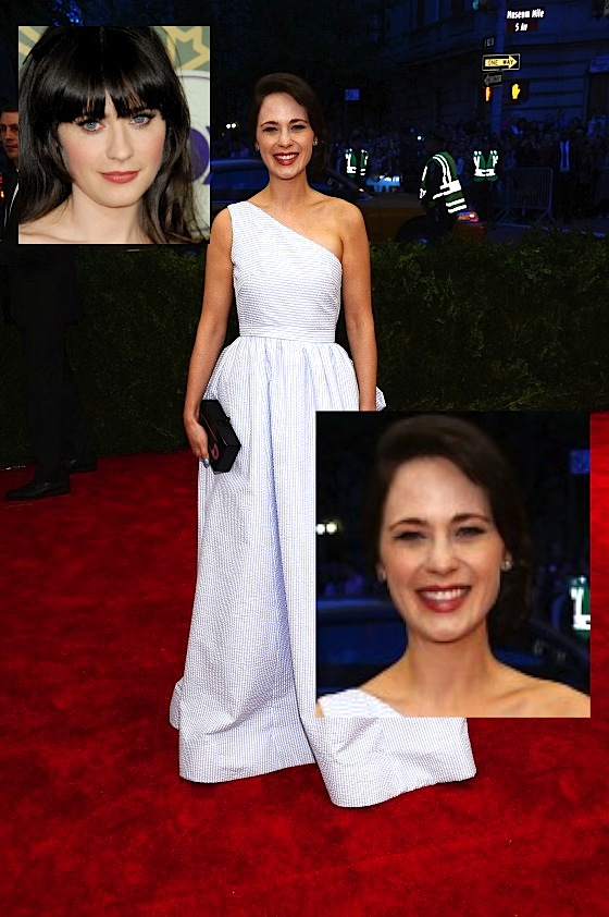 Zooey Deschanel 2013 Met Gala at the Metropolitan Museum of Art 01 560x842 Did Zooey Deschanel Get Plastic Surgery?