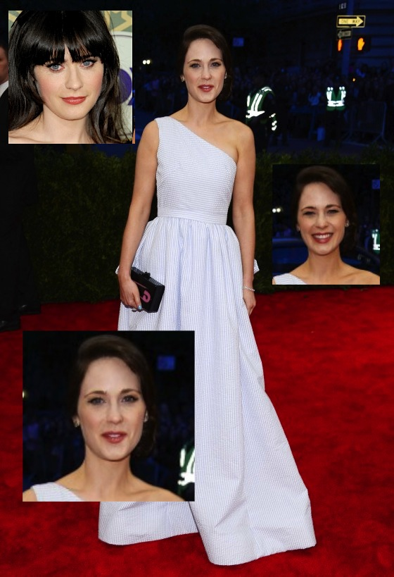 Zooey Deschanel 2013 Met Gala at the Metropolitan Museum of Art 02 560x819 Did Zooey Deschanel Get Plastic Surgery?