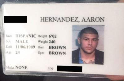 aaron hernandez jail id ebay 2