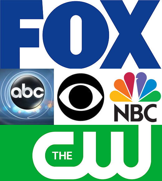 abc cbs fox cw nbc