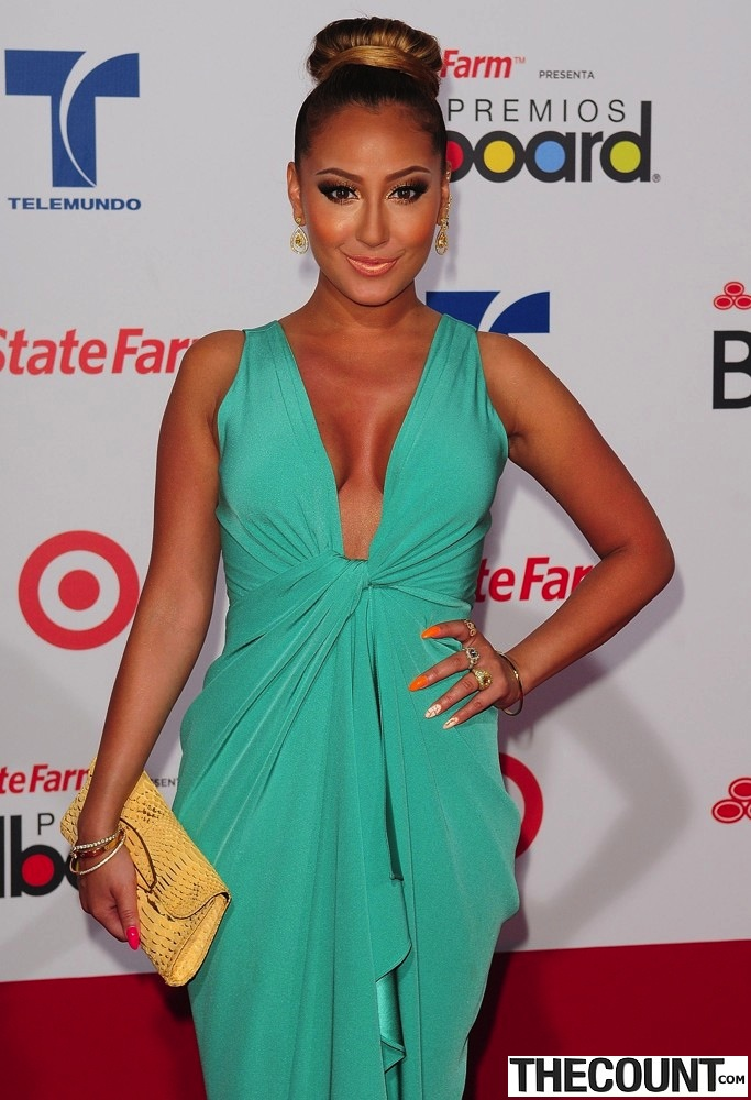 adrienne bailon billboard latin music awards 2012 01 The Many Looks Of Adrienne Bailon The Real Talk Show Host