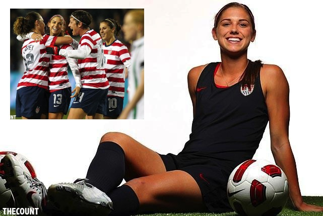 alex morgan Olympics Star Alex Morgan Scores Hat Trick In Victory