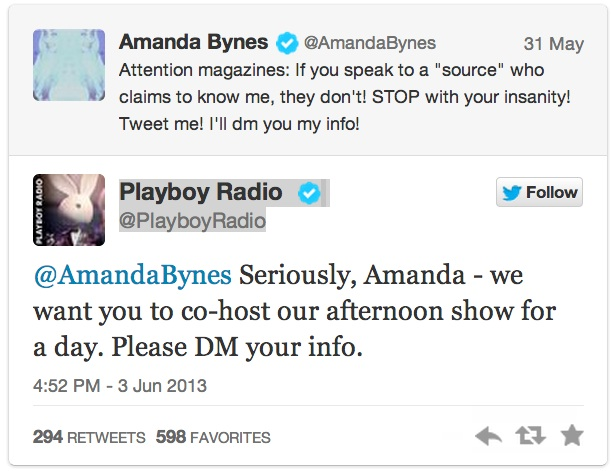 amanda bynes radio gig