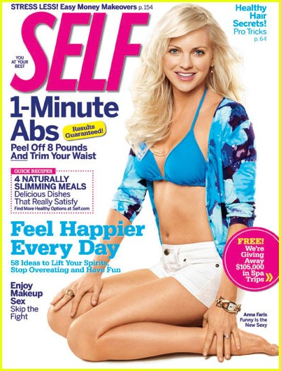 anna faris self magazine 03 The World According To Anna Faris
