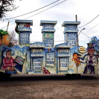 anti obamacare Mardi Gras Floats Spotted in New Orleans 2