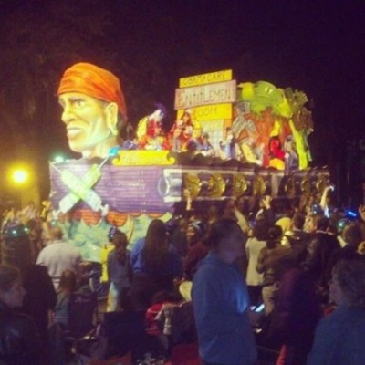 anti obamacare Mardi Gras Floats Spotted in New Orleans