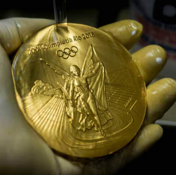 are olympics gold medals really made of gold