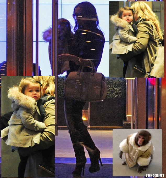 article 0 167C6DD4000005DC 345 634x6811 POSH? Victoria Beckham Dresses Baby Like IKEA MONKEY Only In REAL FUR!