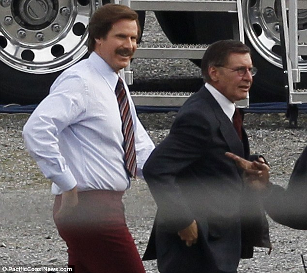 article 2288466 1870A1A0000005DC 104 634x563 Harrison Ford With Dyed Hair Joins Cast Anchorman 2