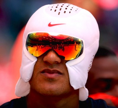 ashton eaton nike ice hat 2 400x366 Olympic Champ Ashton Eaton Debuts New NIKE ICE HAT