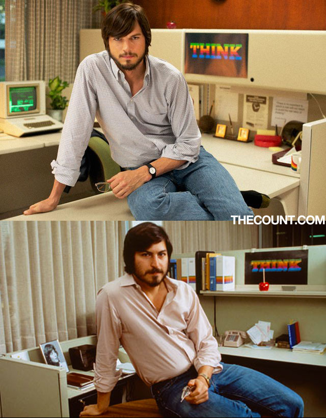 ashton kutcher steve jobs comparison Early Reviews: Ashton Kutcher jOBS iSUCKS